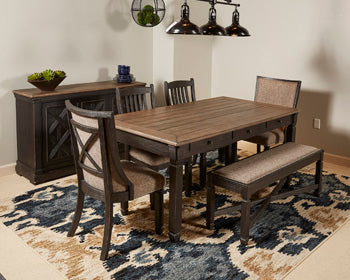 Tyler Creek 6 Seat Dining Set Austin S Furniture Outlet