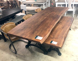 Live Edge Walnut Dining Set