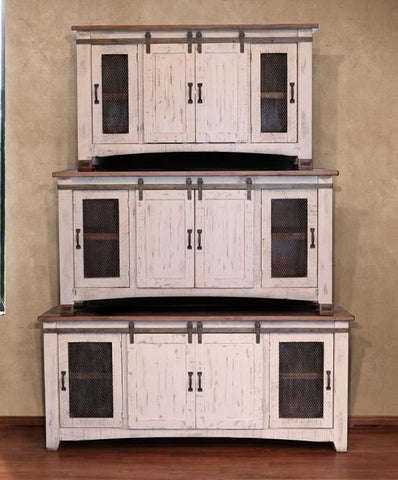 "Pueblo White Stand in 60"", 70"" and 80"" - Price Start At"