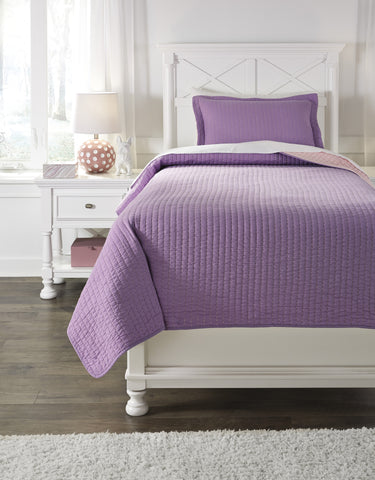 Dansby Lavender/Pink Twin or Full Coverlet