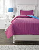 Dansby Magenta/Aqua Twin Or Full Coverlet