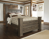 Juararo California King Poster Bed With Storage