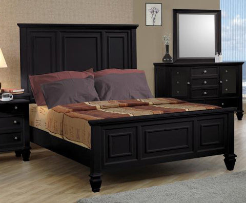 Sandy Beach California King Bed (Black)