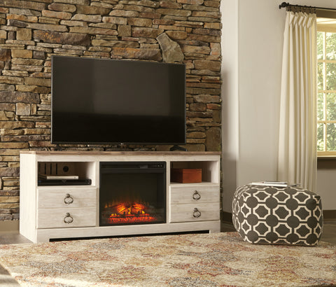 Willowton Large Fireplace TV Stand