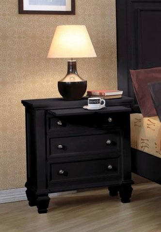 Sandy Beach Nightstand (Black)
