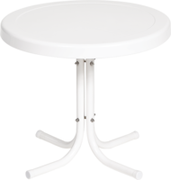 Round Side Table - Only in White