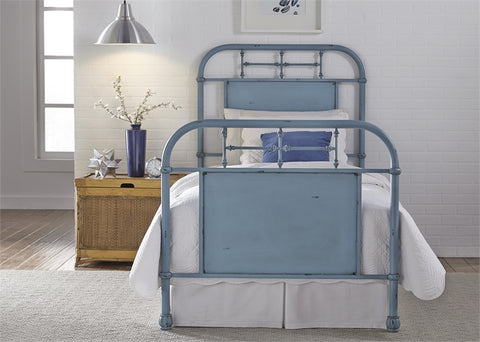 Twin Vintage Metal Bed In 6 Colors