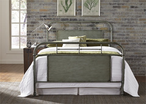 Queen Vintage Metal Bed-6 Colors