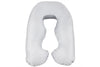 Peaceful Gray Back N Belly Mini Body Pillow Product Only