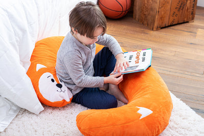 Snoogle Jr Child Size Body Pillow Fox Lounging