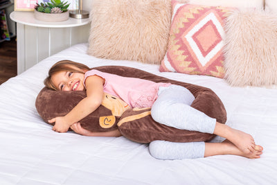 Snoogle Jr Child Size Body Pillow Monkey Awake