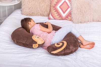 Snoogle Jr Child Size Body Pillow Monkey Asleep