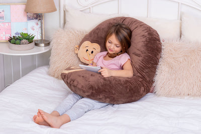 Snoogle Jr Child Size Body Pillow Monkey Lounging