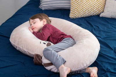 Snoogle Jr Child Size Body Pillow Puppy Asleep