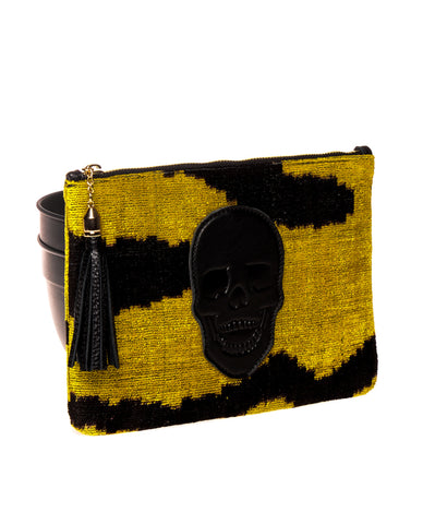 Sunflower Skull Clutch