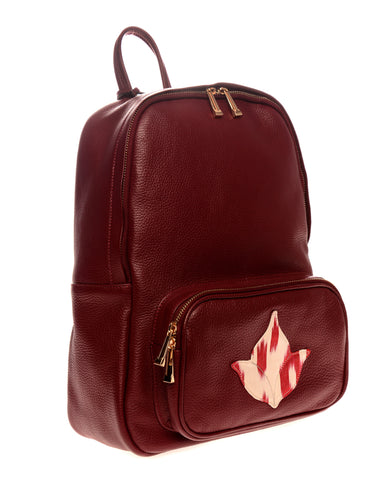 Burgundy Ikat Backpack