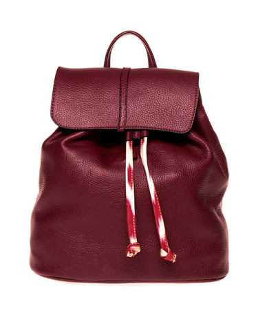 Burgundy Drawstring Backpack