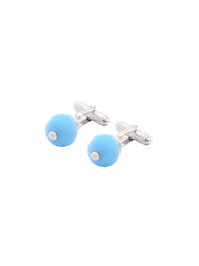 Meriko London - Turquoise Silver Cufflinks - The Velvet Closet