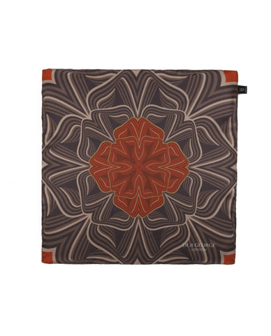 Lotus Bomb- Burnt Orange & Brown