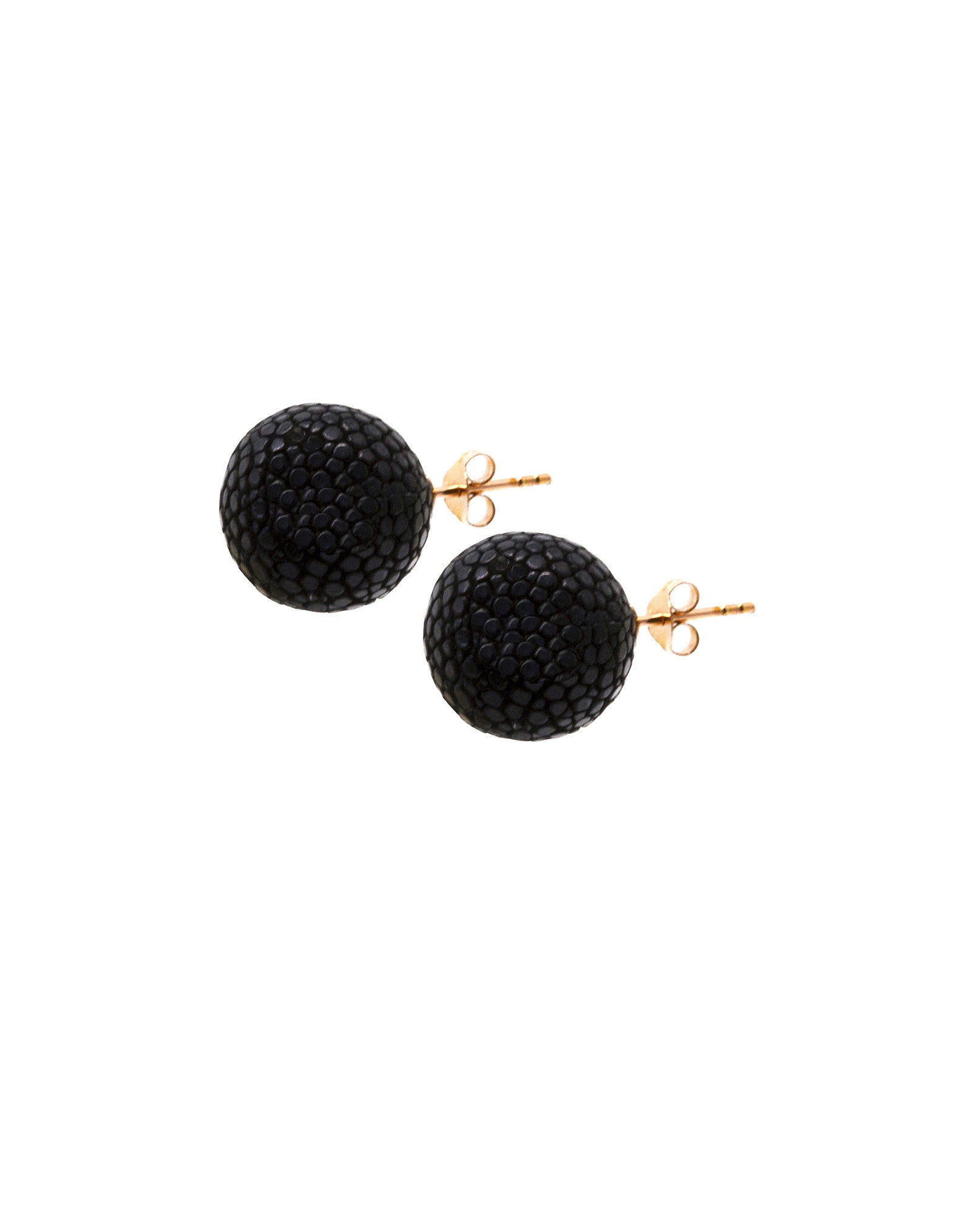 Elan Bijoux - Noir Stud Earrings - The Velvet Closet