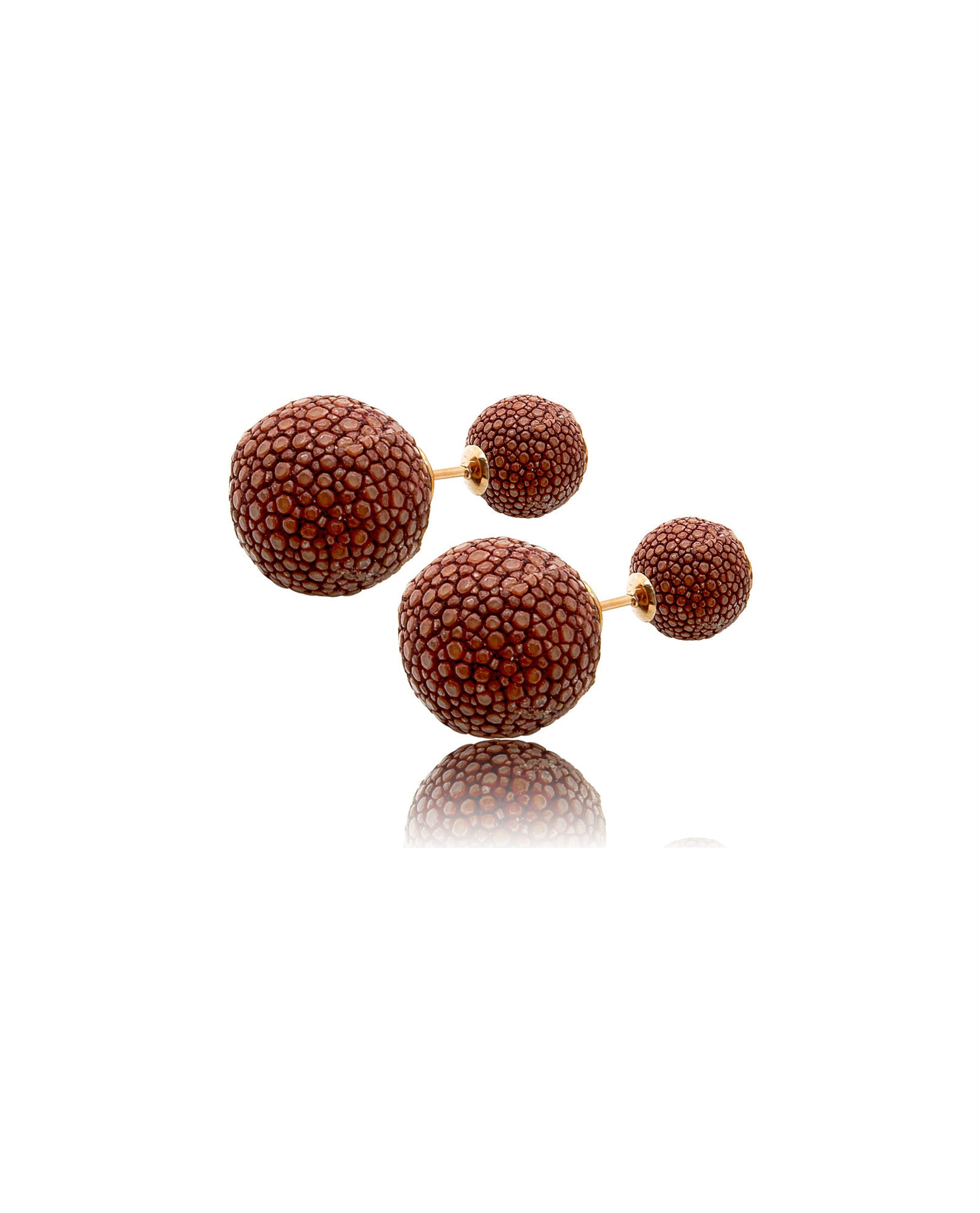 Elan Bijoux - Vieux Rose Double Stud Earrings - The Velvet Closet