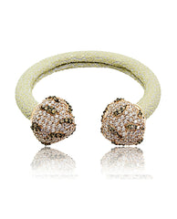 Elan Bijoux - Snow Cuff Bangle - The Velvet Closet