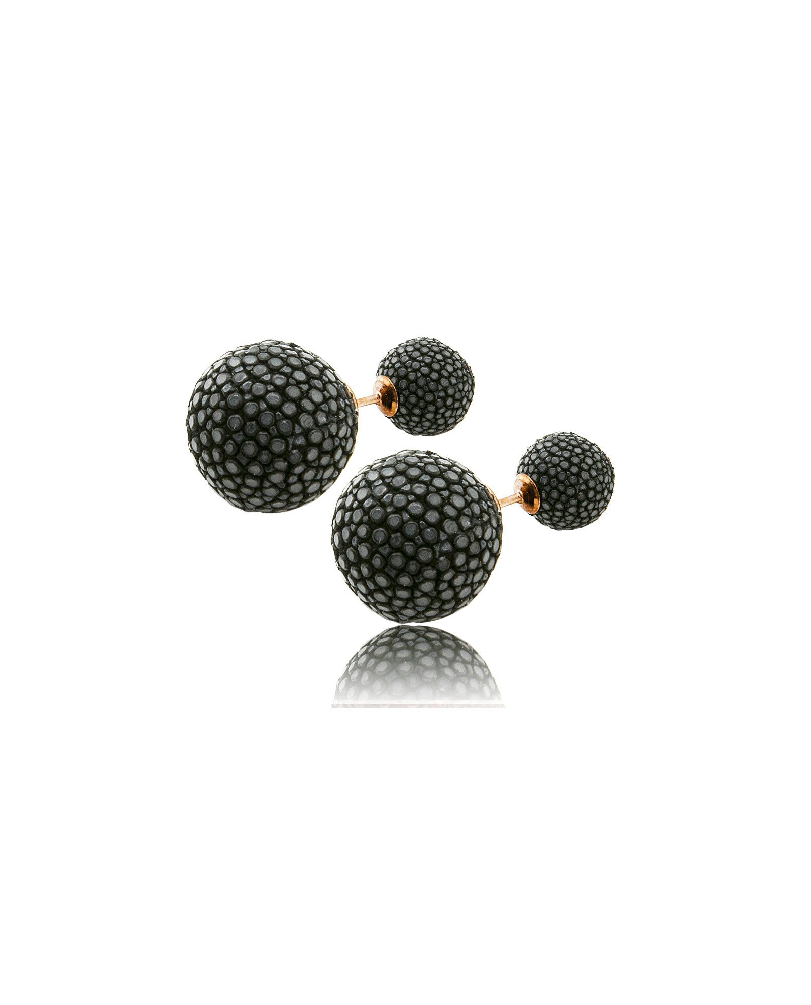 Elan Bijoux - Noir Double Stud Earrings - The Velvet Closet
