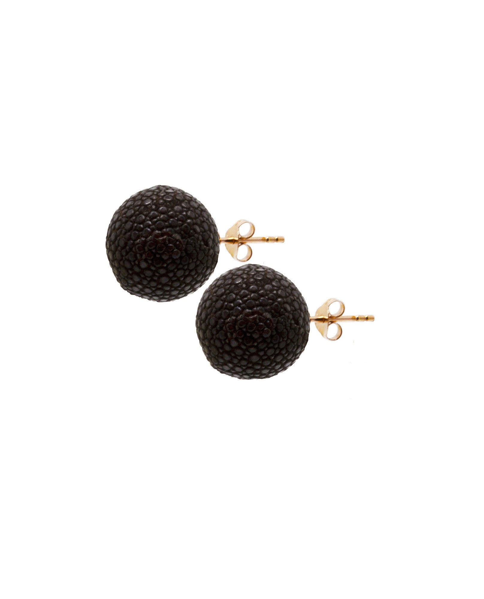 Elan Bijoux - Chocolate Stud Earrings - The Velvet Closet