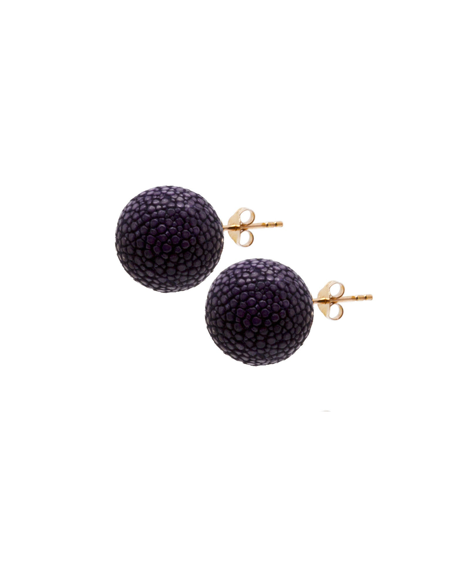 Elan Bijoux - Violet Stud Earrings - The Velvet Closet