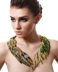 Begada - Gold Navette Necklace - The Velvet Closet - 2