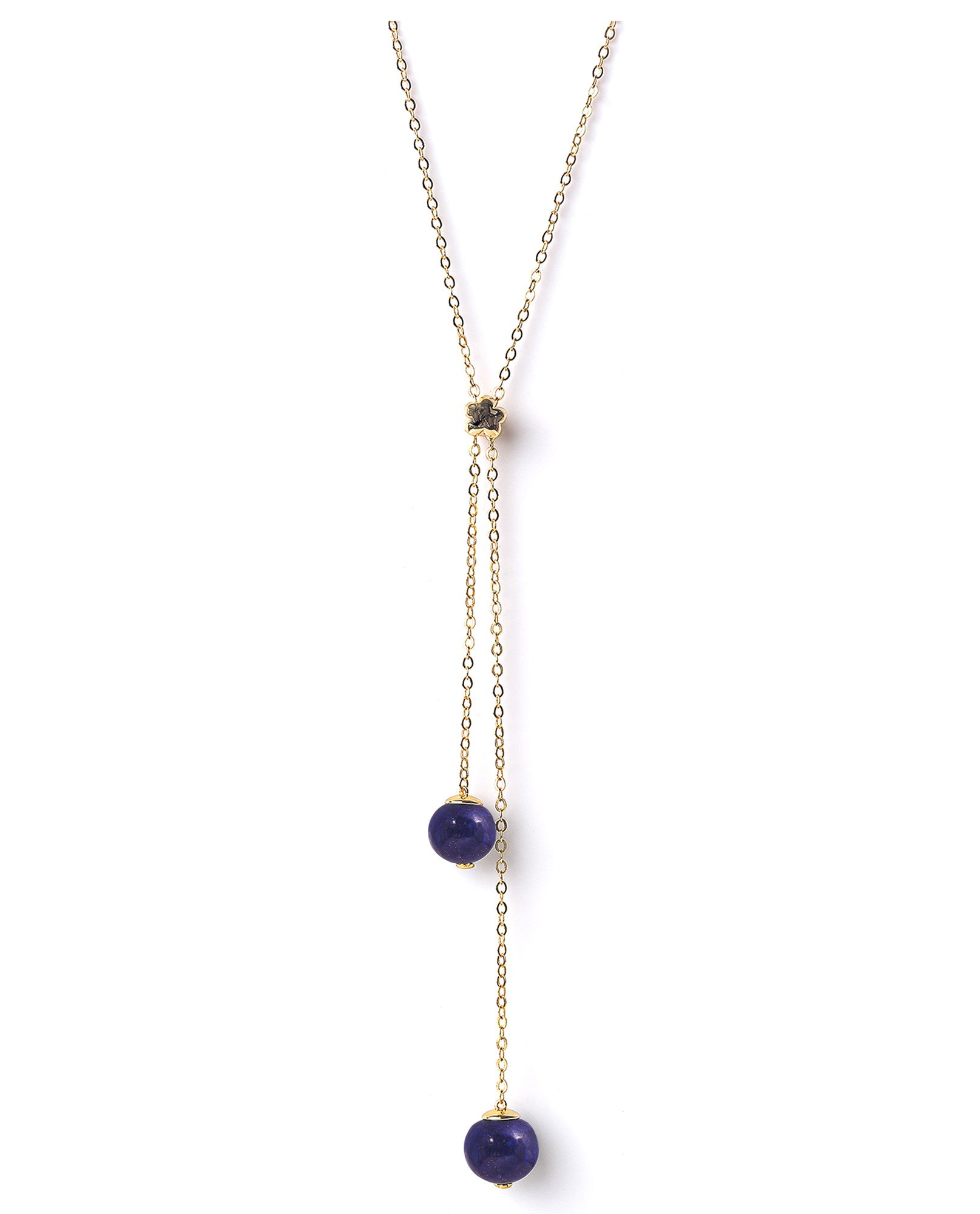 Meriko London - Lapis lazuli long lariat necklace - The Velvet Closet - 1