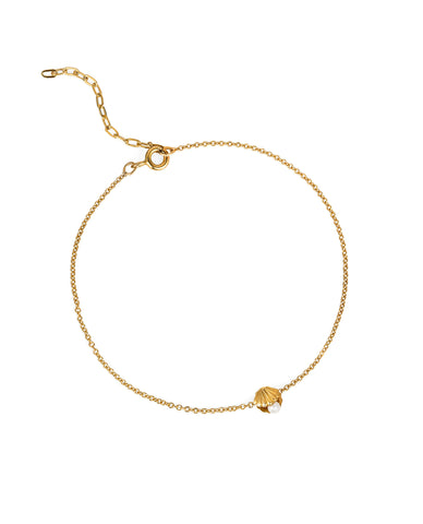 Mini Shell & Pearl Bracelet – Gold Vermeil