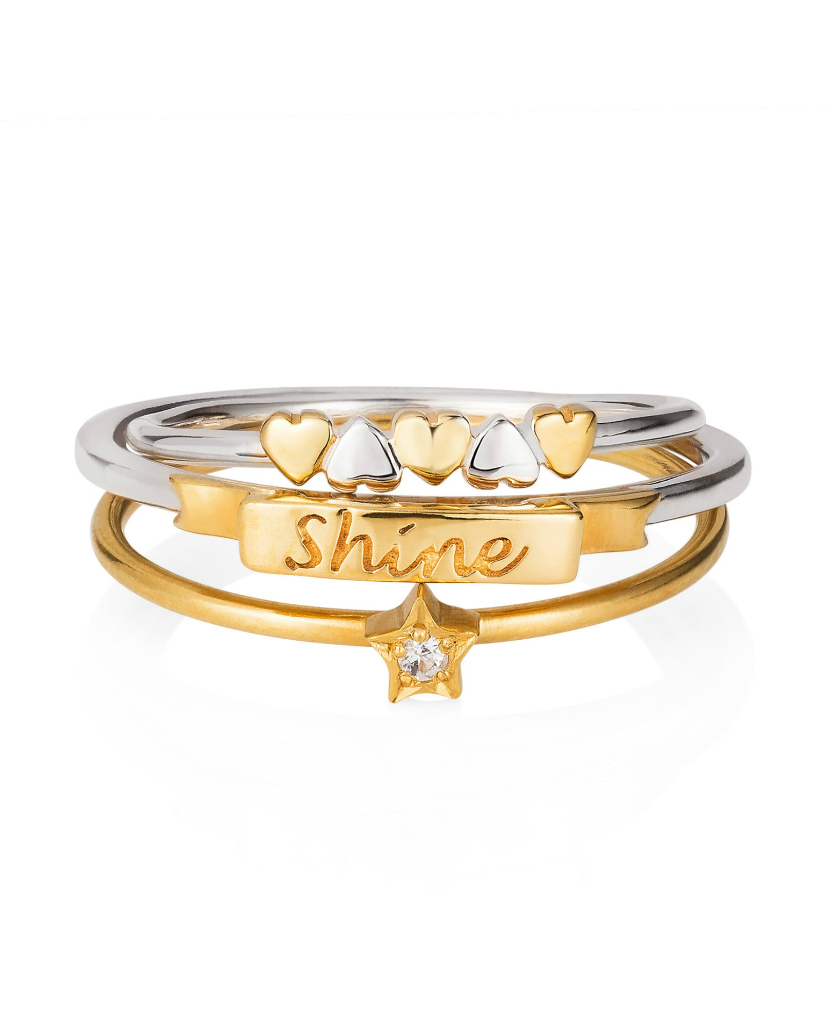 Lee Renée - 'Shine Like A Star' Hearts stack ring - The Velvet Closet - 1