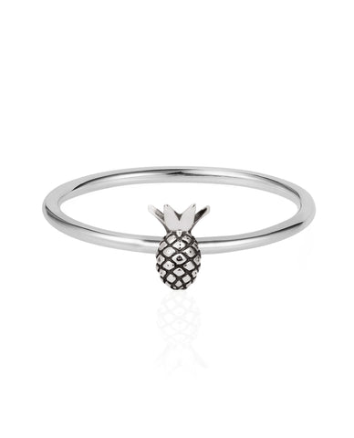 Tiny Pineapple Ring – silver
