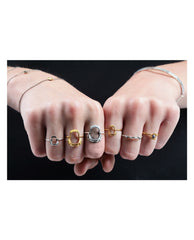 Lee Renée - Tiny snake ring – Diamonds & silver - The Velvet Closet - 2