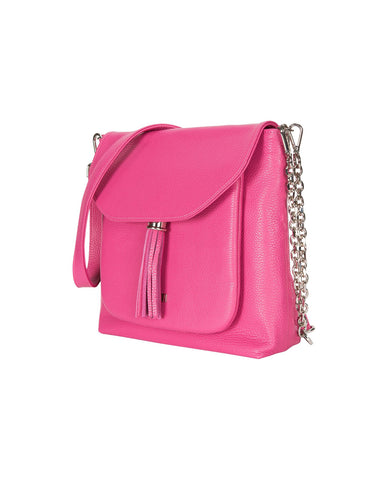 Poppy Pink Leather Handbag