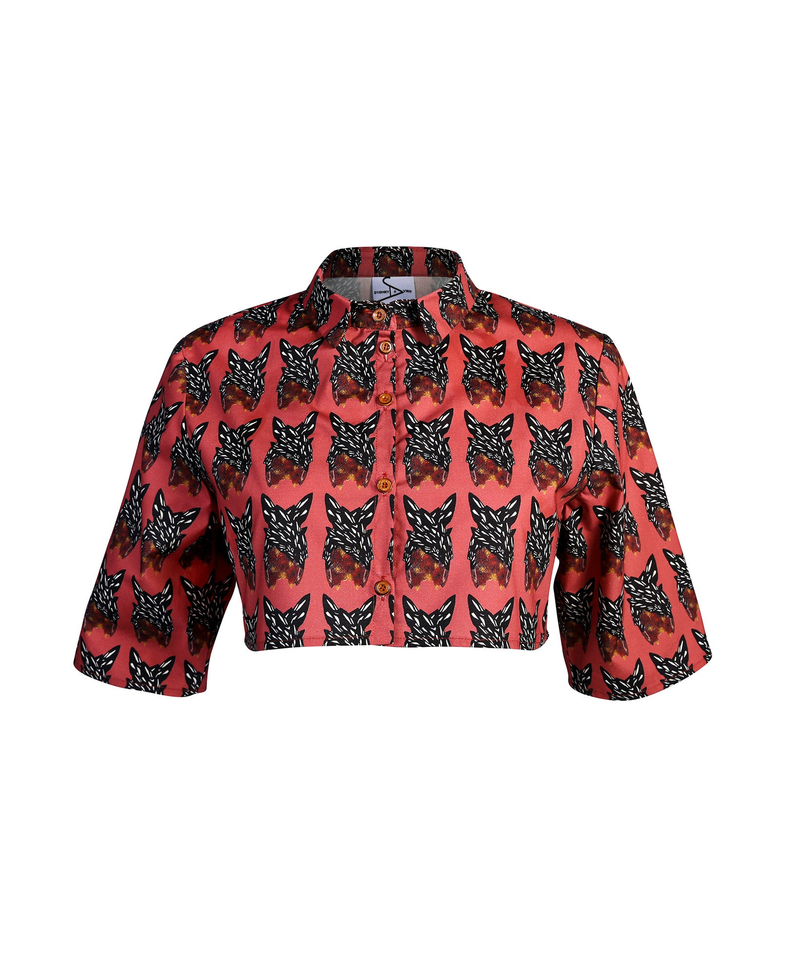 Sydney-Davies - Printed Tailored Crop Shirt - The Velvet Closet - 1