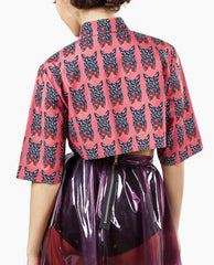 Sydney-Davies - Printed Tailored Crop Shirt - The Velvet Closet - 3