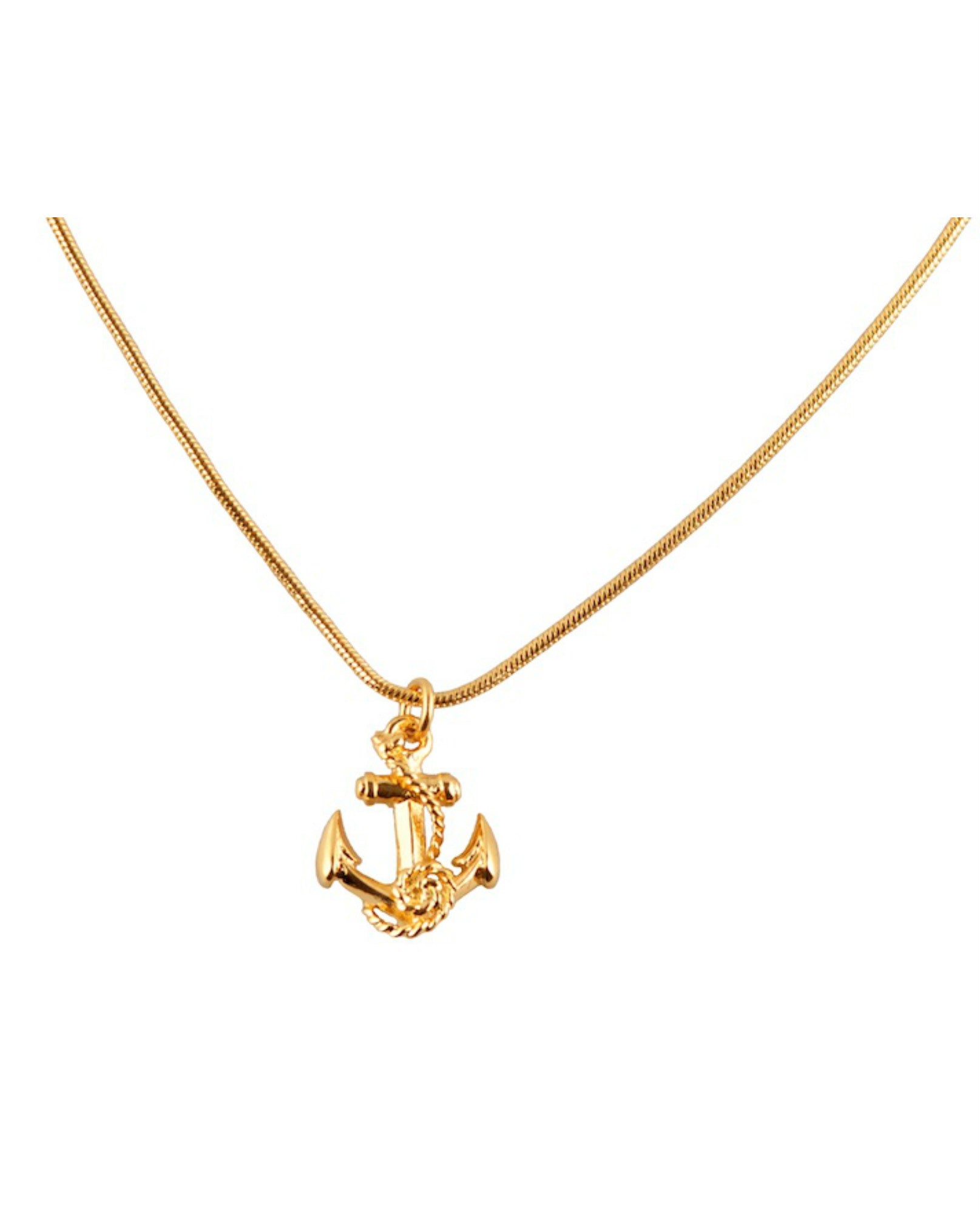 Roz Buehrlen - Gold Anchor Necklace - The Velvet Closet