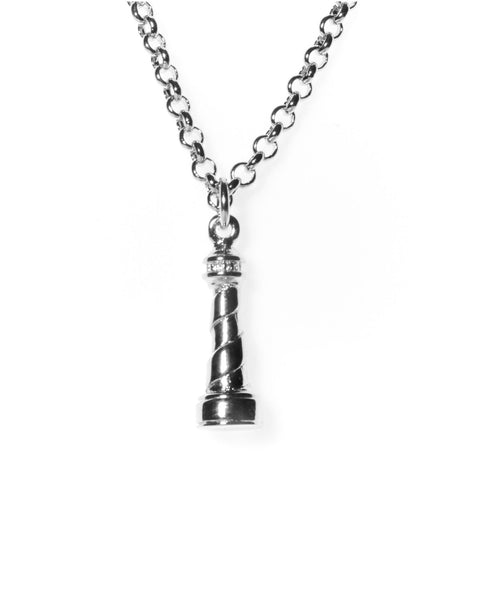 Silver Lighthouse Necklace