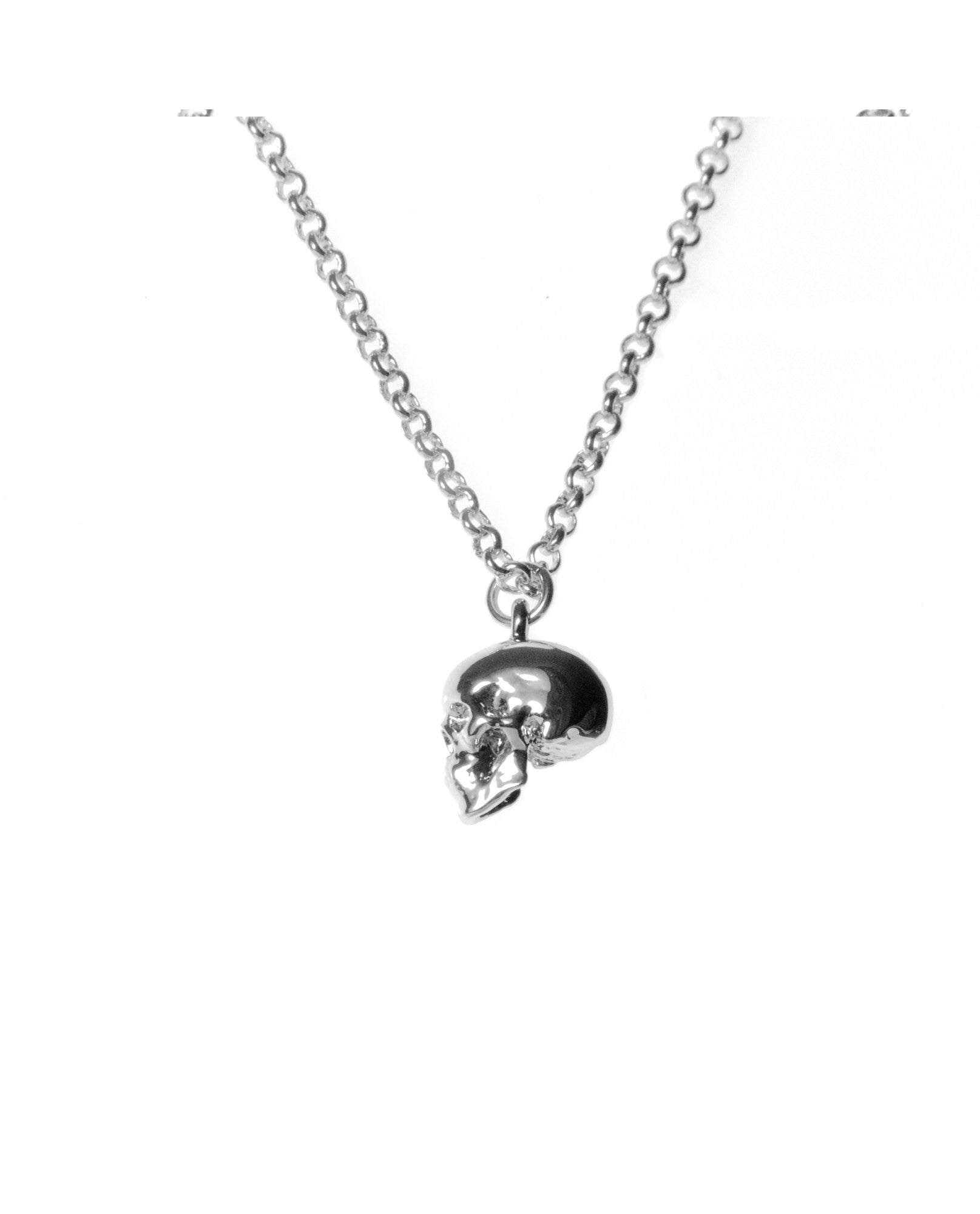 Roz Buehrlen - Silver Skull Necklace - The Velvet Closet