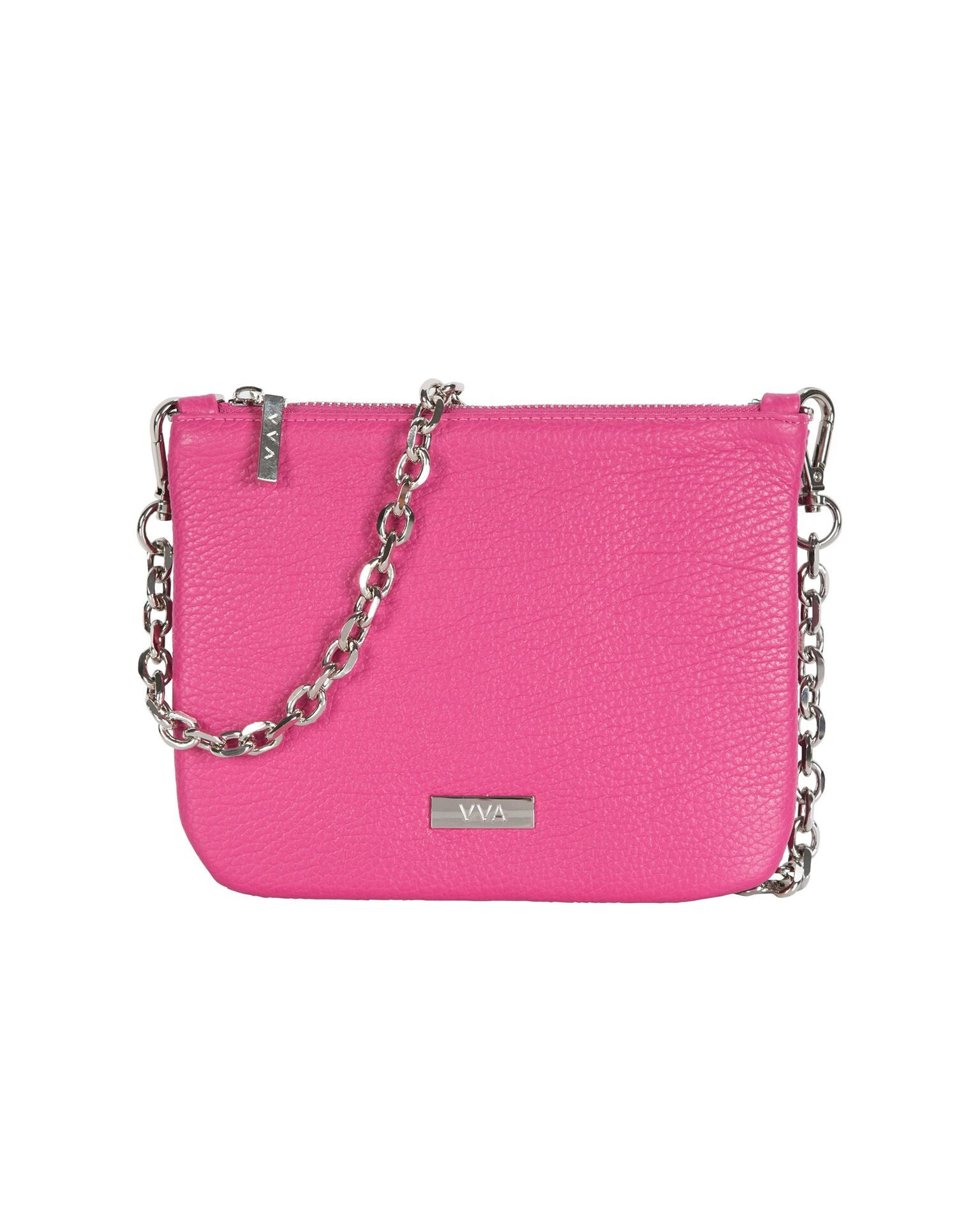 Lily Pink Leather Pouch Handbag