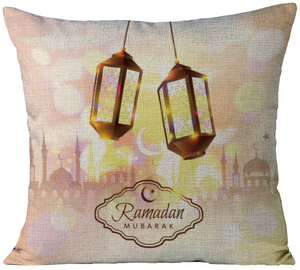'Blush Ramadan Lanterns' Pillowcase