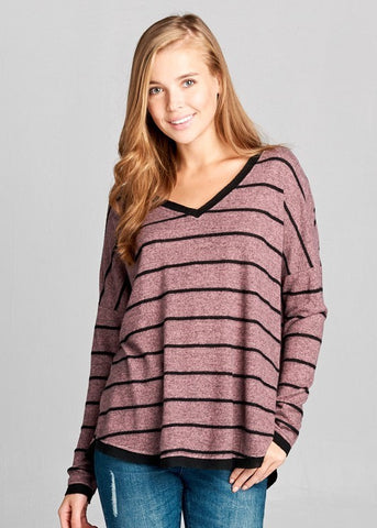 Casual Cuteness Stripe Top