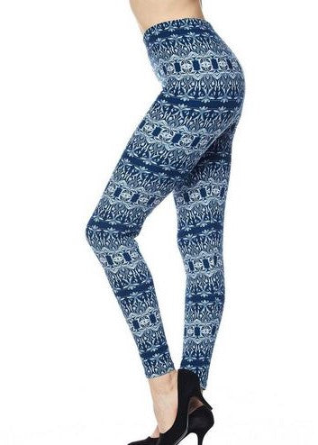 Blue Paradise Leggings