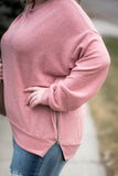 Zip To My Lou Sweater In Rose-C