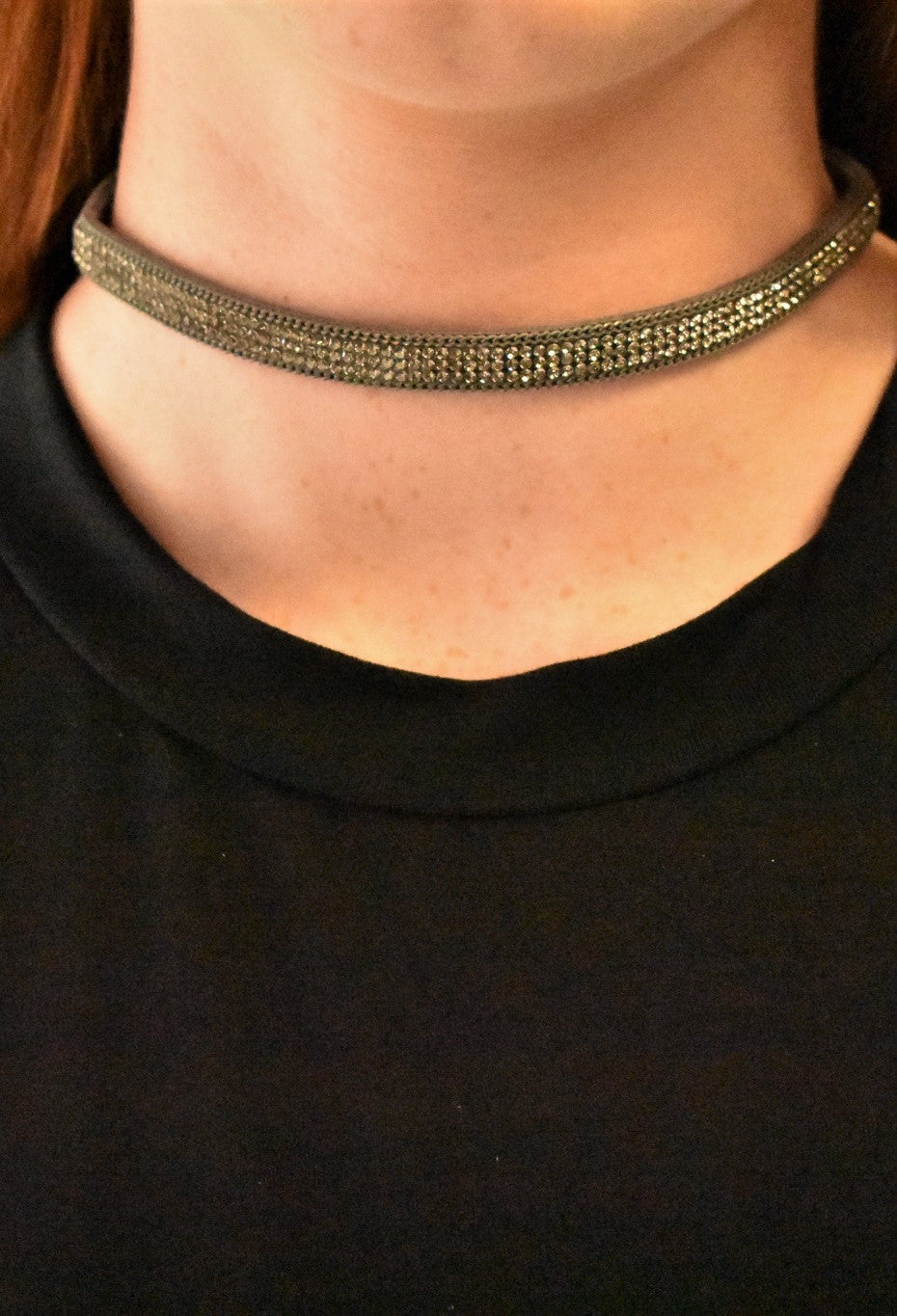 Sparkle and Shine Grey Choker