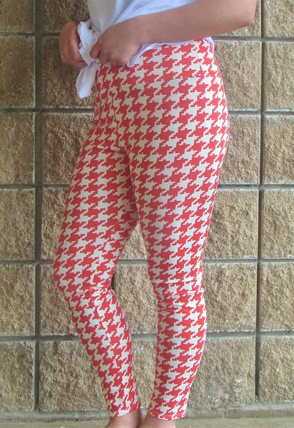Leggings- Coral Herringbone Legging