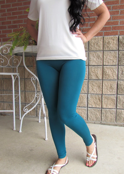Leggings- Solid Teal Leggings