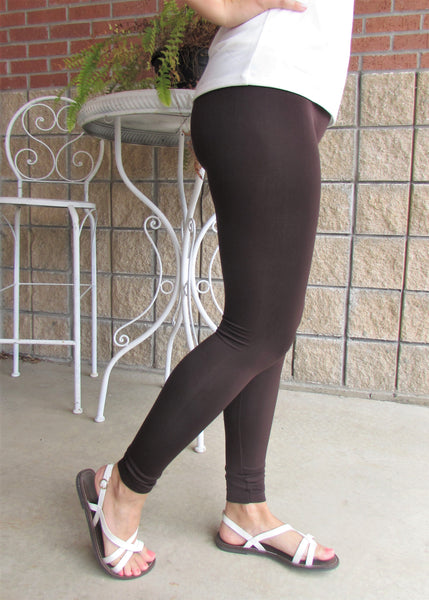 Leggings- Solid Brown Leggings